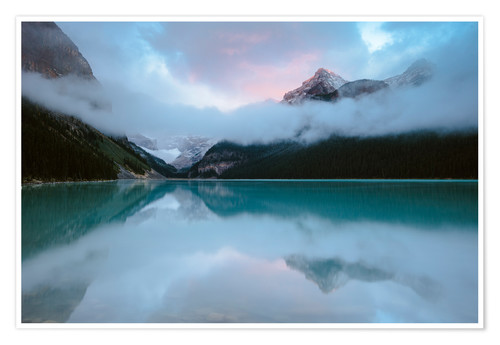 Poster Premium Dawn at lake Louise, Banff, Canada