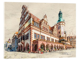 Stampa su vetro acrilico  Leipzig Old Town Hall - Peter Roder