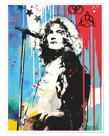 Poster Premium  Robert Plant, Led Zeppelin - 2ToastDesign