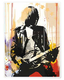 Poster Premium  Johnny Ramone, The Ramones - 2ToastDesign