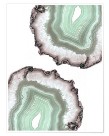 Poster  Light water agate - Emanuela Carratoni