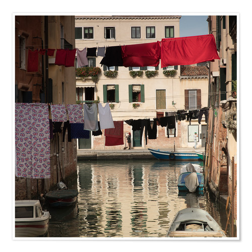 Poster Premium Washing lines in Venice, Italy