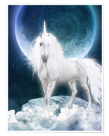 Poster  Unicorn - Magicmoon - Dolphins DreamDesign