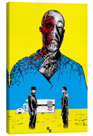 Stampa su tela  Breaking Bad Gus Fring death whit blood - Paola Morpheus