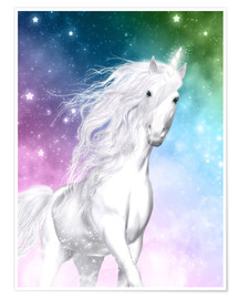 Poster  Unicorn - Surprise - Dolphins DreamDesign
