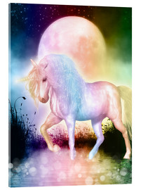Vetro acrilico  Unicorn - Love yourself - Dolphins DreamDesign