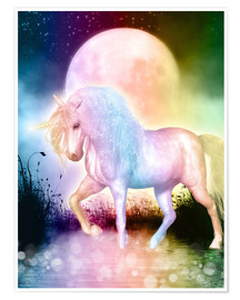 Poster Premium  Unicorn - Love yourself - Dolphins DreamDesign
