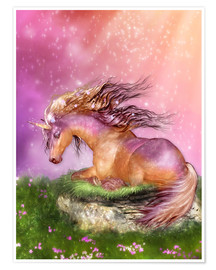 Poster  Unicorn - Love is Healing - Dolphins DreamDesign
