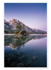 Poster Premium  Morning mood at lake Hintersee - Martin Wasilewski