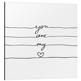 Alluminio Dibond  You are my heart - Mareike Böhmer Graphics
