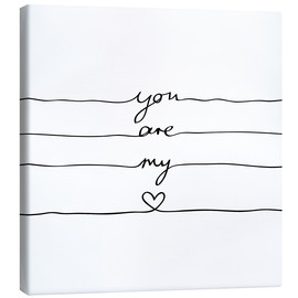 Tela  You are my heart - Mareike Böhmer Graphics