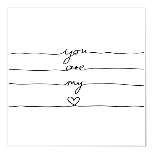 Poster You are my heart