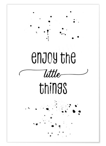 Poster TEXT ART Enjoy the little things