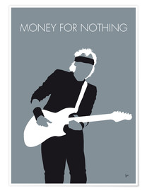 Poster Premium Mark Knopfler, Money for nothing