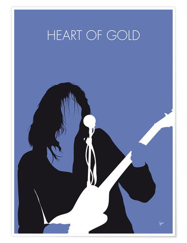 Poster Premium Neil Young - Heart Of Gold