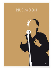 Poster Premium Billie Holiday - Blue Moon