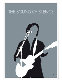 Poster Premium Paul Simon - The Sound Of Silence