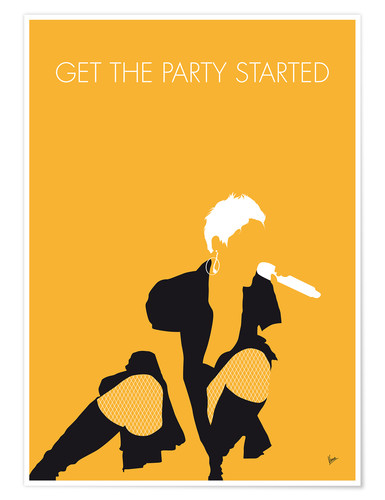 Poster Premium Pink - Get The Party Started