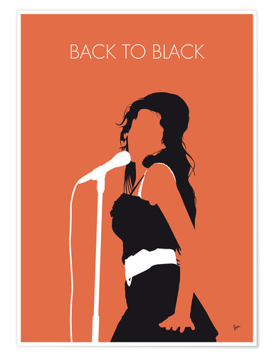 Poster Premium Amy Winehouse - Back To Black