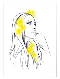 Poster Premium Yellow flowers