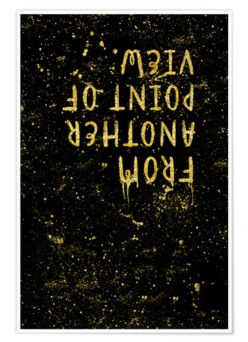 Poster Premium TEXT ART GOLD From another point of view
