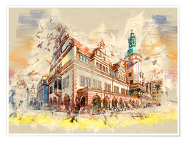 Poster Premium  Leipzig Old Town Hall - Peter Roder