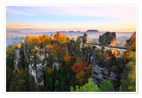 Poster Premium Bastei Bridge in Saxon Switzerland