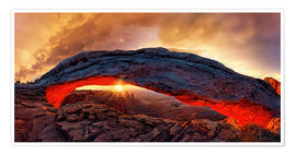 Poster Premium Mesa Arch Sunrise, Canyonlands National Park, Utah, USA