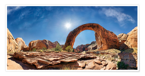 Poster Premium Rainbow Bridge, Lake Powell, USA