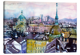 Stampa su tela  Vienna, view to the Karls church - Johann Pickl