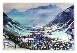 Poster Premium Rauris in winter