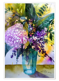 Poster Premium Bouquet with hydrangea