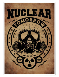 Poster Premium nuclear tomorrow vintage