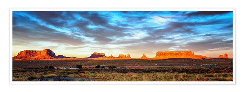 Poster Premium Monument Valley panorama