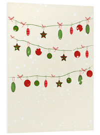 Stampa su PVC  happy holidays baubles - Sybille Sterk