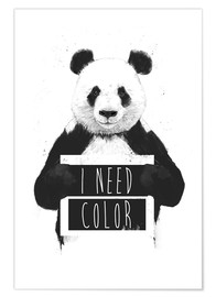 Poster Premium  I need color - Balazs Solti