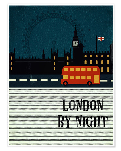 Poster Premium London by Night