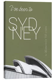 Stampa su tela  Popart Sydney Opera I have been to Color: Calliste Green - campus graphics