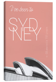Stampa su tela  Popart Sydney Opera I have been to color: blooming dahlia - campus graphics