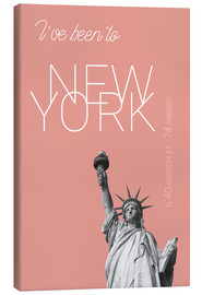 Stampa su tela  Popart New York Statue of Liberty I have been to Color: blooming dahlia - campus graphics