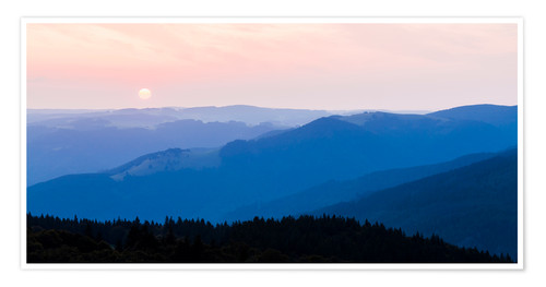 Poster Premium Sunrise at Schauinsland in the Black Forest