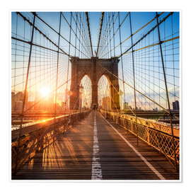 Poster Premium Brooklyn Bridge in New York City