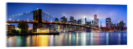 Stampa su vetro acrilico  Brooklyn Bridge panorama in New York City, USA - Jan Christopher Becke