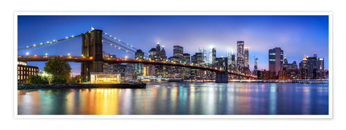 Poster Premium Brooklyn Bridge panorama in New York City, USA