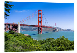 Stampa su vetro acrilico  Golden Gate Bridge in San Francisco, California, USA - Jan Christopher Becke