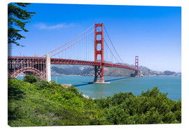 Stampa su tela  Golden Gate Bridge in San Francisco, California, USA - Jan Christopher Becke