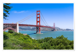 Poster Premium  Golden Gate Bridge in San Francisco, California, USA - Jan Christopher Becke