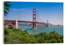 Stampa su legno  Golden Gate Bridge in San Francisco, California, USA - Jan Christopher Becke