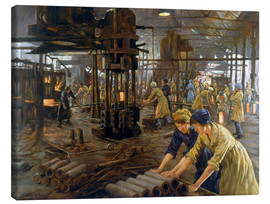 Stampa su tela  'The Munitions Girls' oil painting, England, 1918 Wellcome L0059548 - Stanhope Alexander Forbes