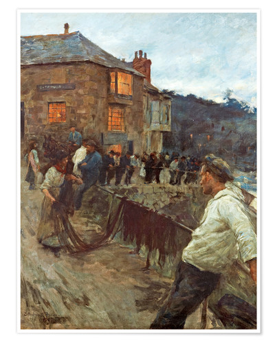Poster Premium stanhope forbes1857 1947the quaysidenewlyn1907 1364008006 org